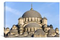 New Mosque Domes in Istanbul, Canvas Print