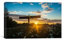 Angel of the North at Sunset, Canvas Print