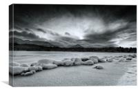 Dark Skies Over Loch Morlich, Canvas Print