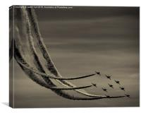 The Red Arrows, Canvas Print