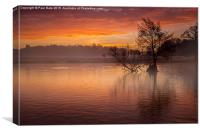 Red Sky In The Morning, Canvas Print