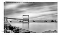 Piers at Sheerness Docks, Canvas Print