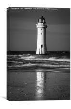 Lighthouse reflections, Canvas Print