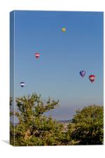 Balloons at Bristol Balloon Fiesta., Canvas Print