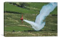 Red Arrows fast & low....smoke on..., Canvas Print