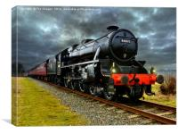 44871 Stainer class black 5 train, Canvas Print