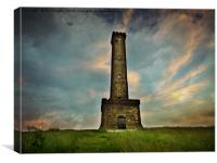 Peel tower monument, Canvas Print