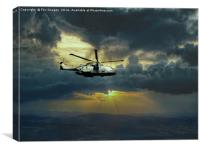 merlin helicopter , Canvas Print