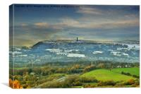Holcombe hill tower, Canvas Print
