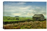 Forest of bowland barn, Canvas Print