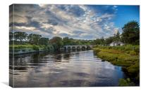 Crana bridge Buncrana , Canvas Print
