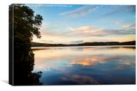 Gartan lake, Canvas Print