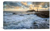 Penmon Lighthouse with Puffin Island Anglesey, Canvas Print