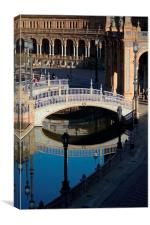 The square of Spain (Seville), Canvas Print