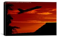 Sunset take off for the Vulcan XH558, Canvas Print