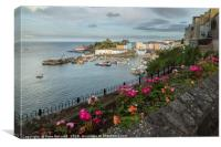 Tenby Harbour From Above, Canvas Print
