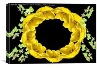 Springtime Wreath , Canvas Print