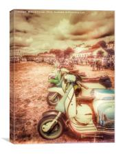 Exmouth National Scooter Rally 2016, Canvas Print