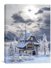 A picturesque Christmas , Canvas Print