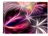 Fireworks ( digital) , Canvas Print