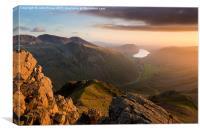 Scafell Pike from Great Gable. English lake Distr, Canvas Print