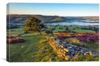 Peak District morning view, Hope valley., Canvas Print