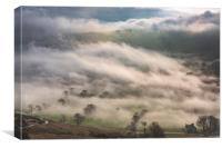 Hope Valley Inversion, Peak District, Canvas Print