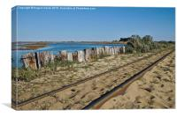 Train Tracks to Beach Praia do Barril , Canvas Print