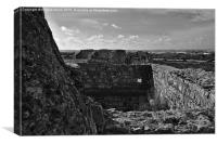 Antique Walls of Rato Fort in Tavira , Canvas Print