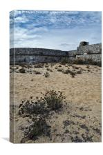 Rato Fort and Sand in Tavira, Canvas Print