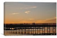 Wooden bridge welcoming twilight, Canvas Print