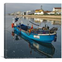 Docked Fishing Boat in Algarve, Canvas Print