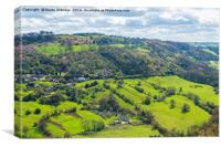 English countryside from Heights of Abraham, Derby, Canvas Print