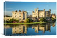 Leeds Castle Reflection, Canvas Print