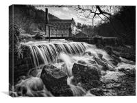 Gibson Mill Monochrome, Canvas Print