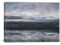 Loch Morlich and the Cairngorm Massif, Canvas Print