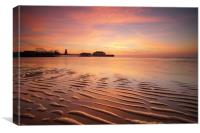 Clacton on Sea Lines in the Sand, Canvas Print