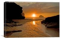 Cornish Sunset, Canvas Print