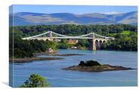 Menai Suspension Bridge , Canvas Print