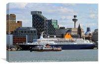 Saga Pearl 2 & Mersey Ferry Royal Iris, Canvas Print