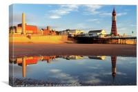 Blackpool Tower Reflection , Canvas Print