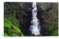 Mill Gill Force Waterfall , Canvas Print