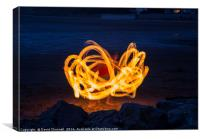 Dancing With Fire , Canvas Print