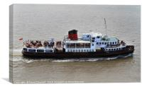 Mersey Ferry Royal Iris, Canvas Print