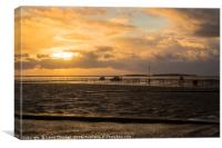 Stormy West Kirby Sunset, Canvas Print
