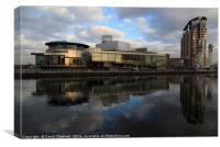 The Lowry Centre Reflection  , Canvas Print