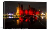 Caernarfon Castle Relection , Canvas Print
