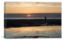 Anthony Gormley's Another Place , Canvas Print
