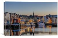 The Shore at Twilight, Edinburgh, Canvas Print