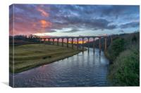 Sunset over the River Tweed, Canvas Print